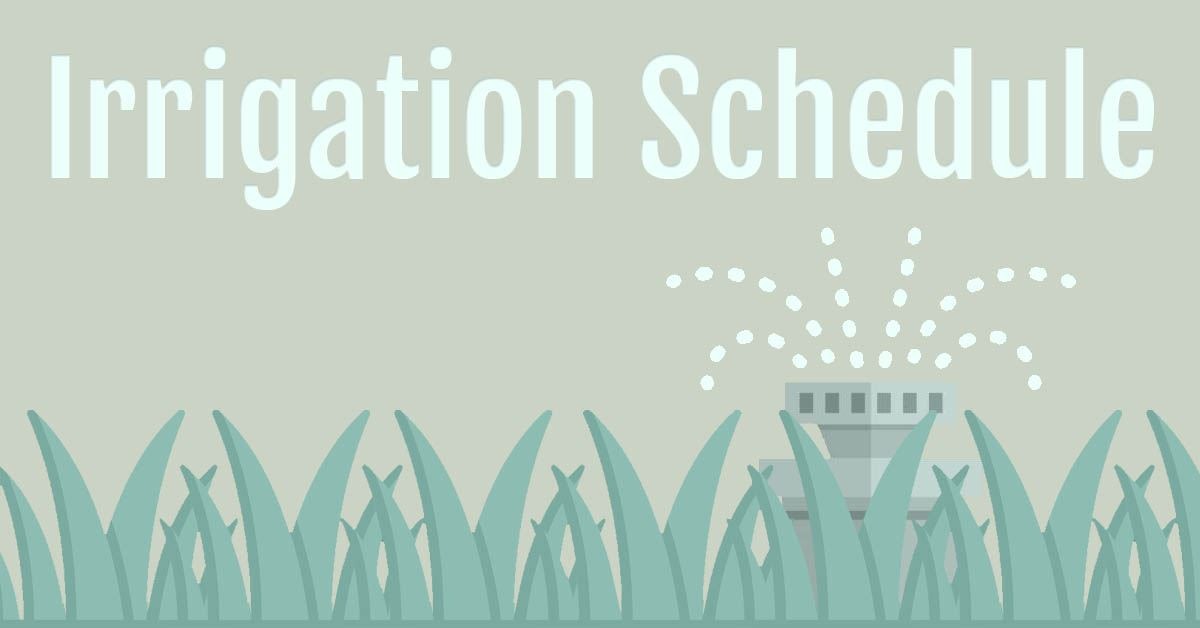 Irrigation Schedule and TRWD Sprinkler Program