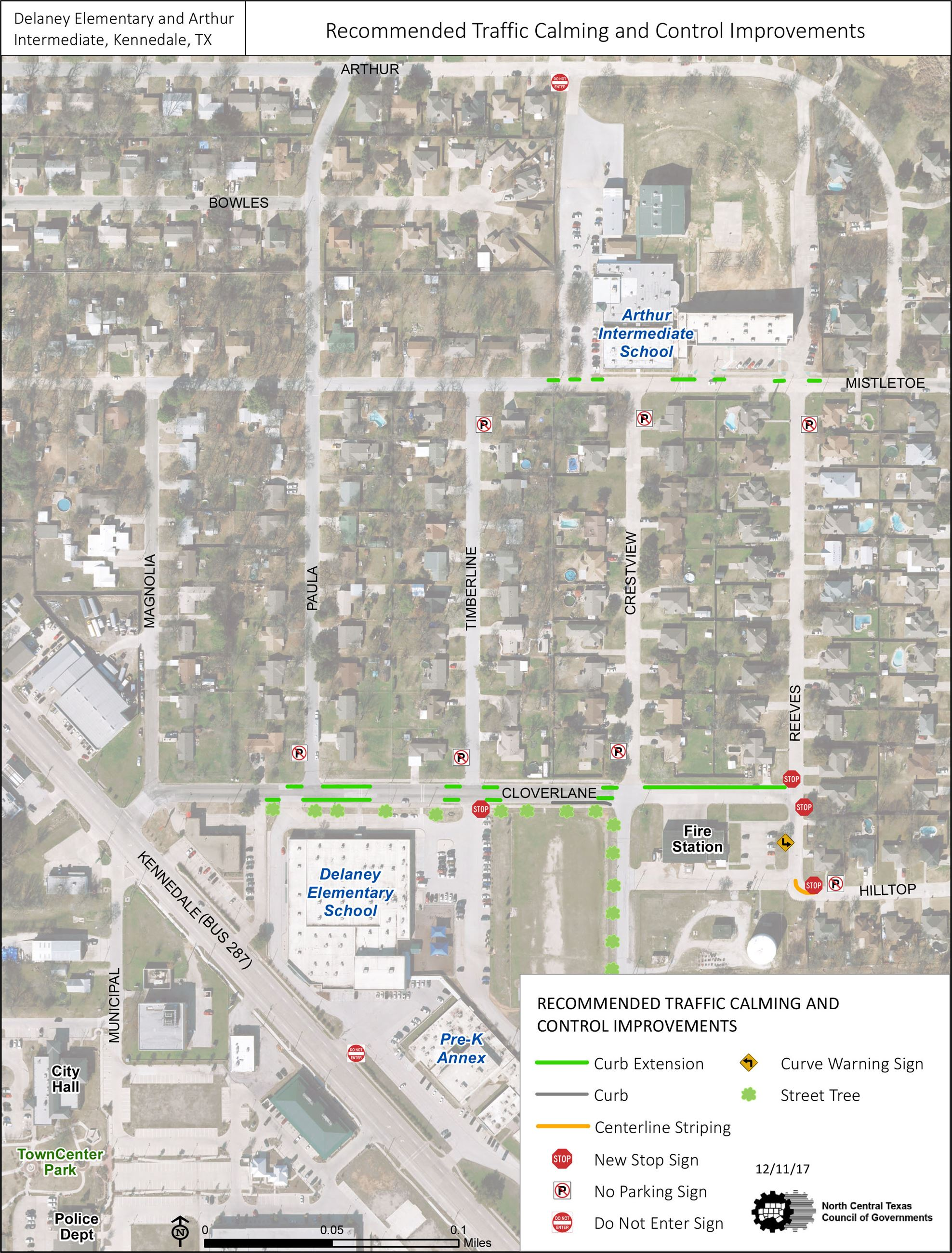 SRTS Recommended Traffic Calming and Control Improvements