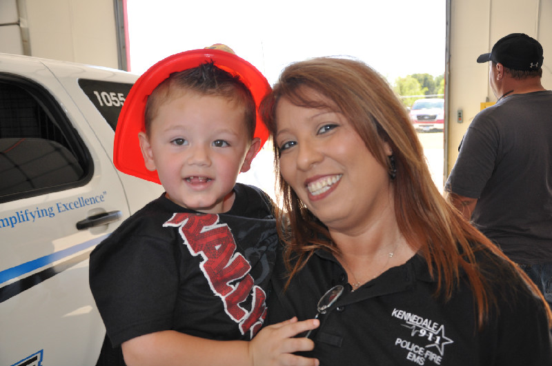 Dispatcher Esther Chavez and her friend's son