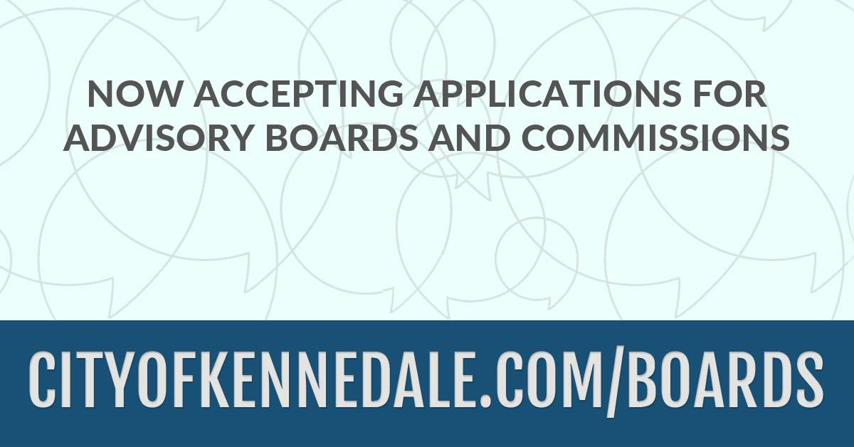 Now Accepting Applications for All Advisory Boards and Commissions. Click Here to Apply.