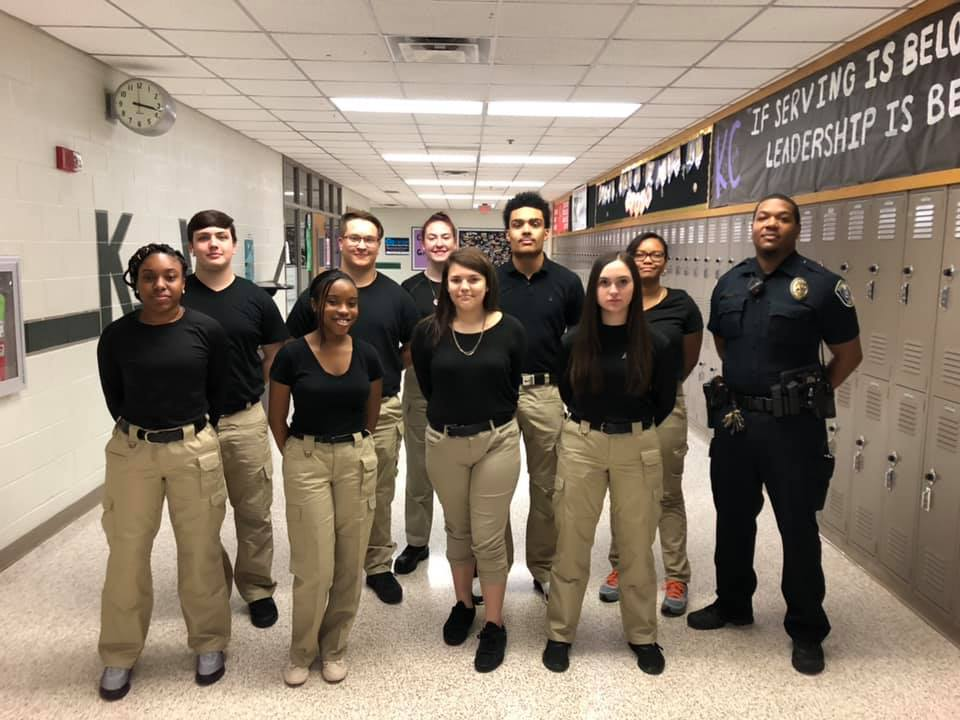 Founding members Kennedale Youth Police Academy organized and is led by Officer Starling KISD SRO 20